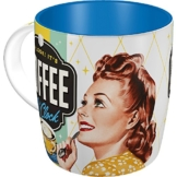 Nostalgic-Art 43019, Say it 50's, Coffee O' Clock, Tasse -